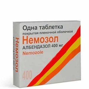 лечение аскаридоза немозолом схема