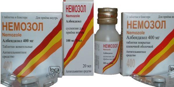 немозол лечение у детей при аскаридозе