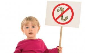острицы у ребенка одного года