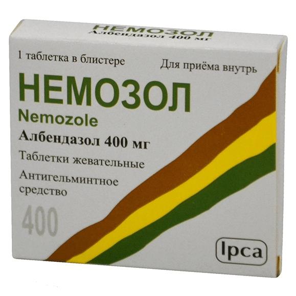 лечение токсокароза немозолом